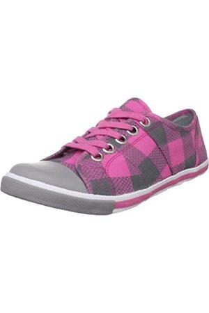Sugar Damen Party Down Schnürschuh Sneaker, Pink (pinkes Karomuster)