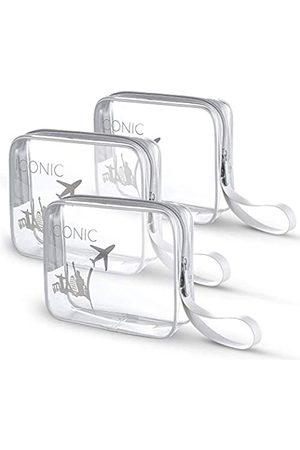 BrexLink Herren Reisetaschen - ICONIC transparenter Kulturbeutel mit auslaufsicherer Silikonflasche für Damen und Herren, Shampoo, Lotion