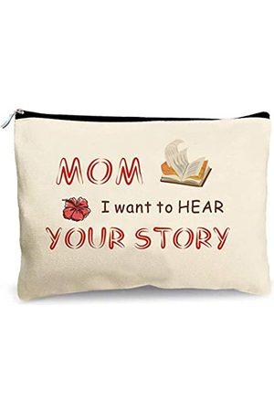 """First Spring Make-up-Tasche mit Aufschrift """"Mom, I Want To Hear Your Story"""", Geschenke für die beste Mutter, 19 x 24 cm"""