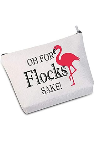 JXGZSO Flamingo Make-up Tasche Flamingo Lover Geschenk Oh for Flocks Sake