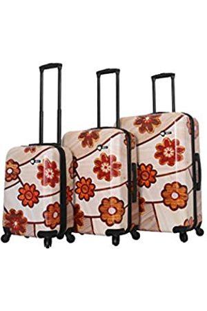Mia Toro Ricci Holz Mosaik Blumen 3er Set (Mehrfarbig) - M1355-03PC-MOFNN