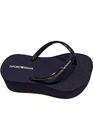Emporio Armani Damen Swimwear Essential Flip-Flop, Navy+White+Navy