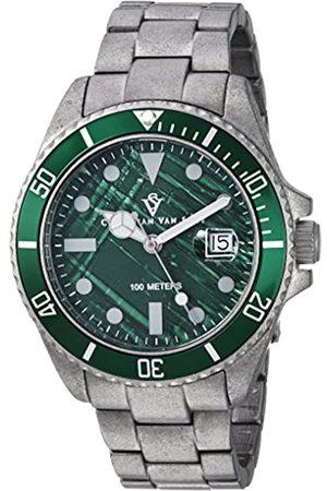 Christian Van Sant Herren analog Quarz Uhr mit Silikon Armband CV5102B