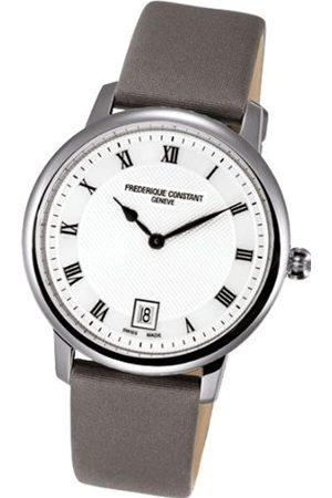 Frederique Constant Unisex Analog Quarz Uhr mit Verschiedene Materialien Armband FC-220M4S36