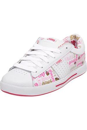 Osiris Women's Volley Skate Shoe,White/Pink/Royalty