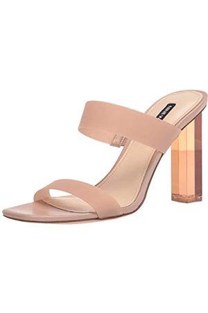 Nine West Damen Zabbi3 Sandale mit Absatz, Hell/naturfarben