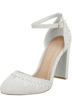 New Look Damen Wide Foot Shottle Pumps, White (White 10)
