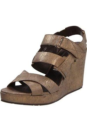 Donald J Pliner Gretel2 Damen-Sandalen mit Keilabsatz, Grau (Bronze)