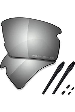 Saucer Premium Ersatzgläser & Gummikits für Oakley Flak 2.0 XL OO9188 Sonnenbrille, (High Defense – Verchromtes Metall polarisiert)