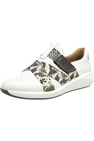 Clarks Damen Un Rio Strap Sneaker, Off White Lthr/Snake Combi