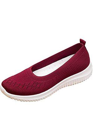 changgou The Old Peking Stoffschuhe für Damen, flache Schuhe, Netzstoff, bequem, atmungsaktiv, zum Reinschlüpfen, leichte Freizeitschuhe