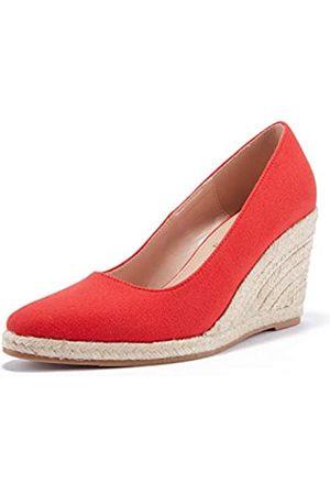 Ruanyu Damen Plateau Espadrilles Keil Sandalen Slip On Geschlossene Zehen Bequeme Keilpumps Schuhe