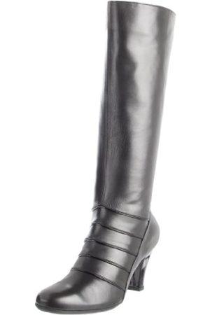 BeautiFeel Damen Stiefel aus Zinn, Schwarz (Kombination aus schwarzem Leder/Lack)