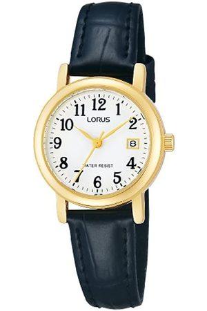 Lorus Klassik Damen-Uhr Edelstahl mit Lederband RH764AX9
