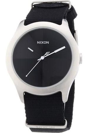 Nixon Unisex-Armbanduhr The Quad Black Analog Quarz Nylon A344000-00