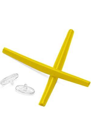 ToughAsNails Ohrensocken und Nasenpolster für Oakley Whisker Sonnenbrille, Gelb (Gelbe Ohrsocken + transparente Nasenpads)