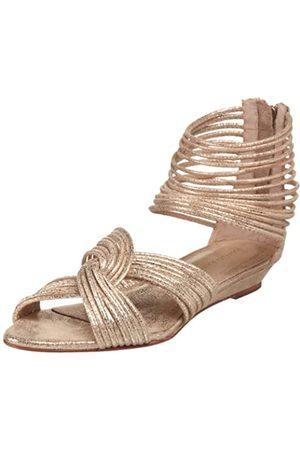 Loeffler Randall Damen Carlie Mignon Twist Sandalen, Gold (metallisch)