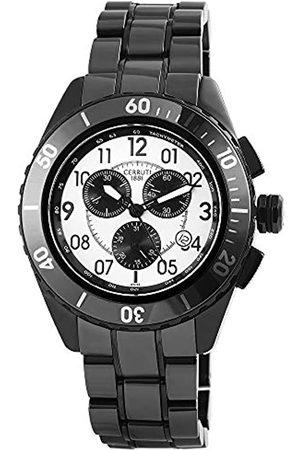 Cerruti 1881 Cerruti Herren Analog Quarz Uhr mit Keramik Armband CRA079Z211H