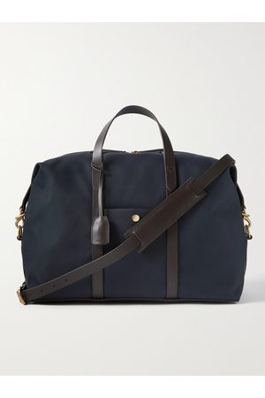 Mismo Herren Reisetaschen - Avail Leather-Trimmed Nylon Holdall
