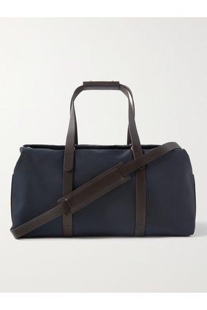 Mismo Herren Reisetaschen - Supply Leather-Trimmed Nylon Duffle Bag