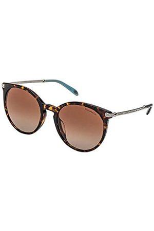 Tiffany & Co. Tiffany TF4142BF 80153B Tortoise TF4142BF Ovale Sonnenbrille Linse Kategorie 2