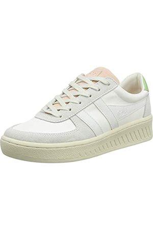 Gola Damen Grandslam Bloom Sneaker, Off White/Pearl Pink/Patina Green