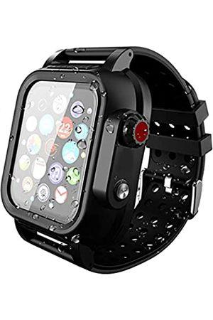 Asenie Kompatibel mit Apple Watch Serie 6/5/4/3/2/1 Band mit Hülle, eingebauter Displayschutzfolie, wasserdicht, für iWatch Armband Set 44 42 40 38 mm, stoßfest, kratzfest und staubdicht