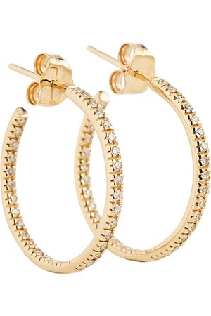 Sydney Evan Damen Ohrringe - Creolen aus 14kt Gelbgold mit Diamanten