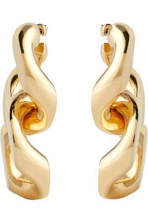 Bottega Veneta Vergoldete Ohrringe aus Silber