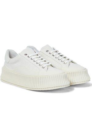 Jil Sander Plateau-Sneakers aus Canvas