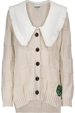 Ganni Damen Strickjacken - Cardigan aus einem Baumwollgemisch