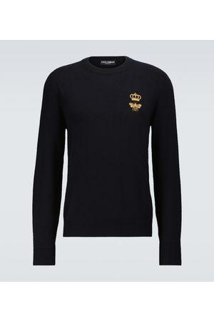 Dolce & Gabbana Bestickter Pullover aus Schurwolle