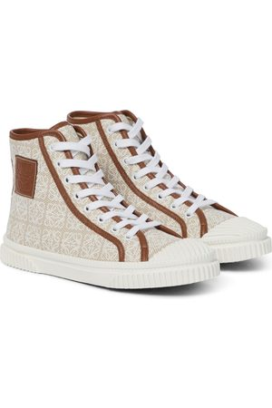 Loewe Damen Sneakers - High-Top-Sneakers Anagram aus Canvas