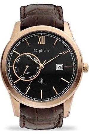 Orphelia Herren-Armbanduhr Rich History Analog Quarz Leder