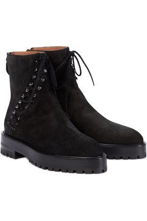 Alaïa Damen Stiefeletten - Ankle Boots aus Veloursleder