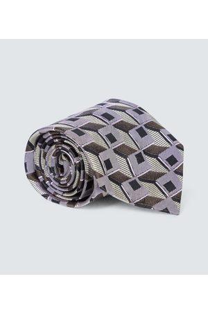 DRIES VAN NOTEN Herren Krawatten - Bedruckte Krawatte aus Seide