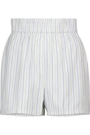 RTA Damen Shorts - Gestreifte Shorts Edwinna aus Seide