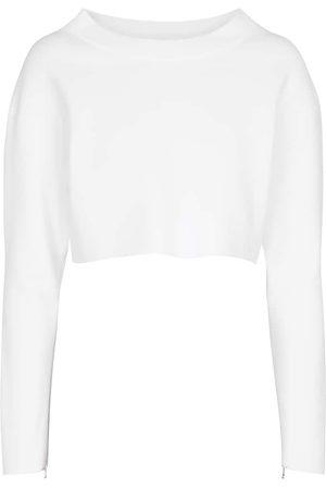 Alaïa Damen Longsleeves - Cropped-Sweatshirt
