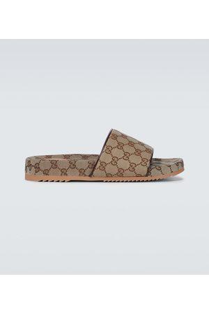 Gucci Clogs & Pantoletten - Pantoletten GG Supreme aus Canvas
