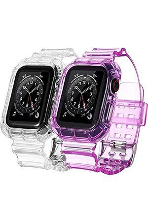 BNBIDEN [2 Pack] Armbänder kompatibel mit Apple Watch Bands 38 mm 40 mm für Damen und Herren, transparente