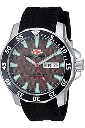 Seapro Herren Scuba Dragon Diver LTD Quarzuhr mit Edelstahl-Armband, Schwarz