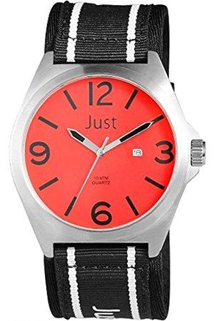 Just Watches Herren Analog Quarz Uhr mit Textil Armband 48-S3926-RD