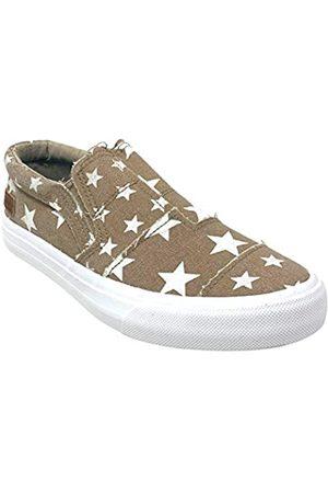 Blowfish Maddox Damen Sneaker, (Cremekaffee Galaxy/Große Galaxie)
