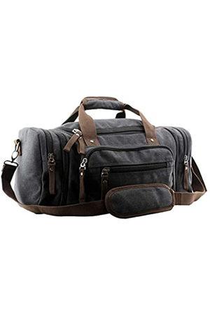 JIAO MIAO Overnight Handbag Shoulder Canvas Travel Tote Luggage Weekender Duffel Bag