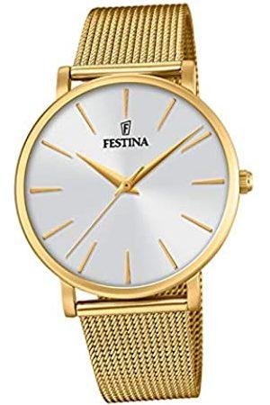 Festina Damen Analog Quarz Uhr mit Edelstahl Armband F20476/1