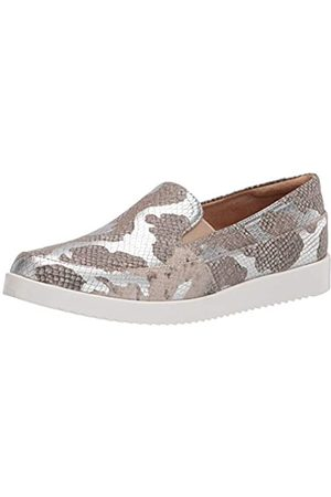 Naturalizer Womens Rome Loafer, Silver Snake
