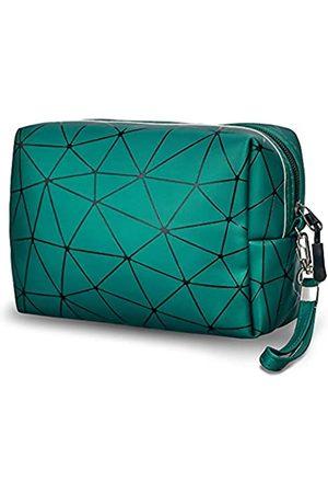 Finebely Kleine Make-up-Tasche für Geldbörse, wasserdichte Kosmetiktasche, große Kapazität, Reise-Reißverschlusstasche, mit abnehmbarem Riemen