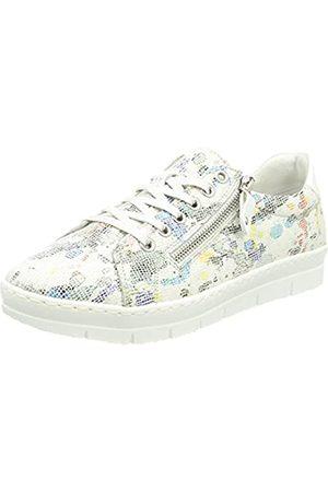 Remonte Damen D5800 Sneaker, Weiss-Multi/Bianco / 90