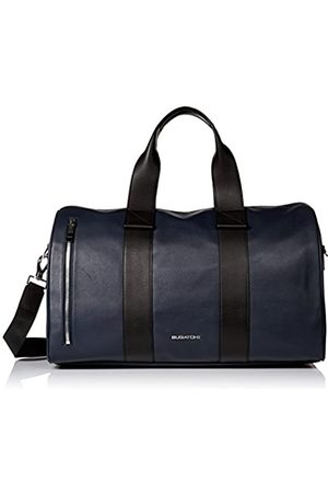 Bugatchi Men's Leather Carry-on Overnight Duffle Bag