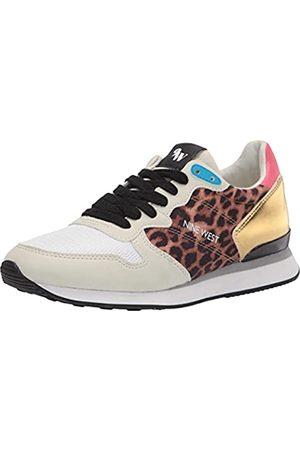 Nine West Damen Banx Sneaker, Naturfarben/Mehrfarbig